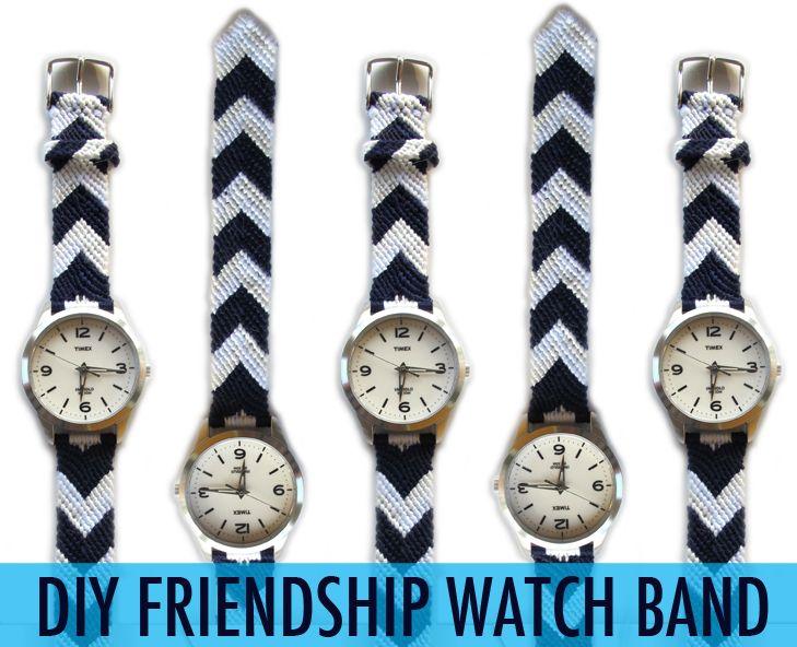 DIY friendship watch band.: Bracelets Band, Diy Friendship, Diy Watches Band, Crafts Activities, Clever Ideas, Friendship Watches, Diy Watches Bracelets, Bracelets Watches, Friendship Bracelets