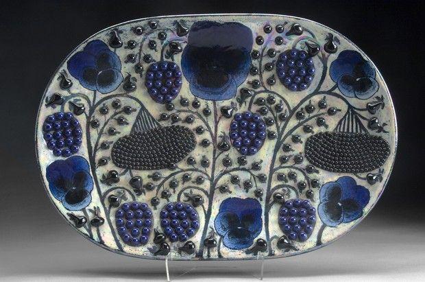 Kaipiainen Wallsculpture/Plate :: (Designer: Kaipiainen, Birger / Producer: Arabia / Year: '70s)