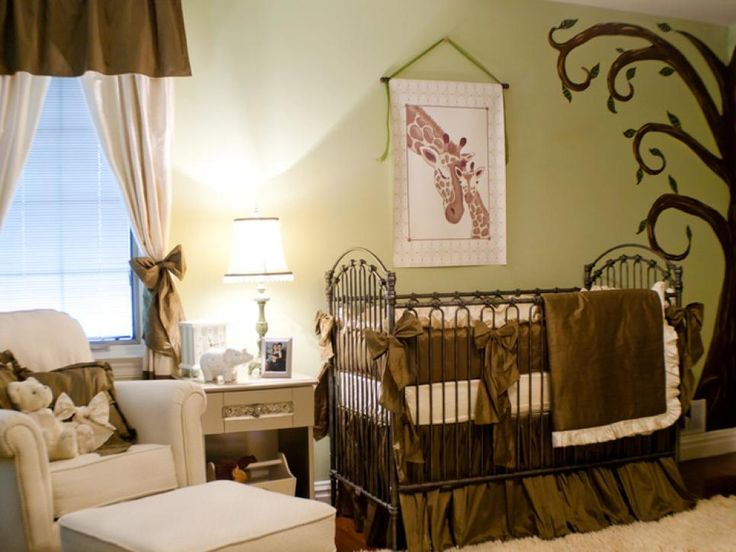 Cake Boss, Buddy Valastro, and his wife Lisa wanted their baby's gender to be a surprise, so designer Sherri Blum created a space that was both gender neutral and combined Buddy's idea for a safari-themed room with Lisa's desire for a traditional space that would be consistent with the rest of the home.