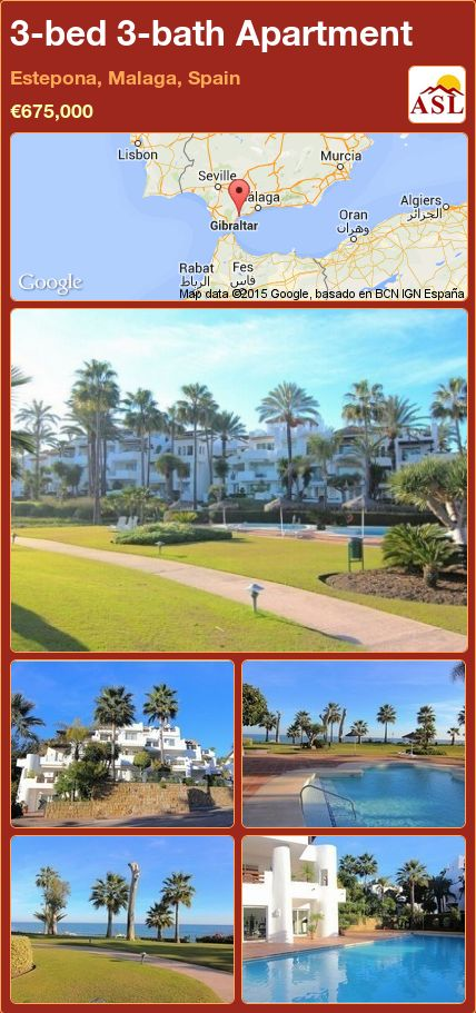 3-bed 3-bath Apartment in Estepona, Malaga, Spain ►€675,000 #PropertyForSaleInSpain
