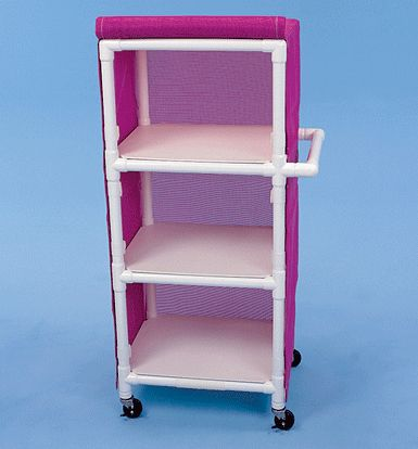 """Three Shelf Cart, 24\"""" x 20\"""" Shelves  --why am I not building more things out of PVC?"""