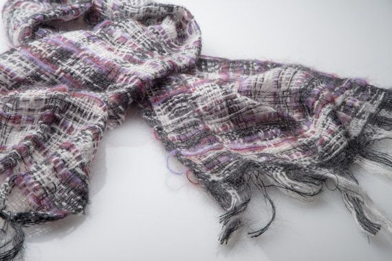 handwoven loosely woven scarf  Stone by BlissStudioTextiles, £49.00