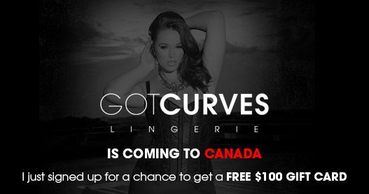 Oooh la la! This looks like a great store for us curvy Canadian gals! I Just Signed up for a chance to get a Free $100 Gift Card!