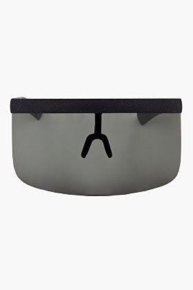 Mykita Black Oversized Shield Daisuke Md1 Sunglasses for men   SSENSE