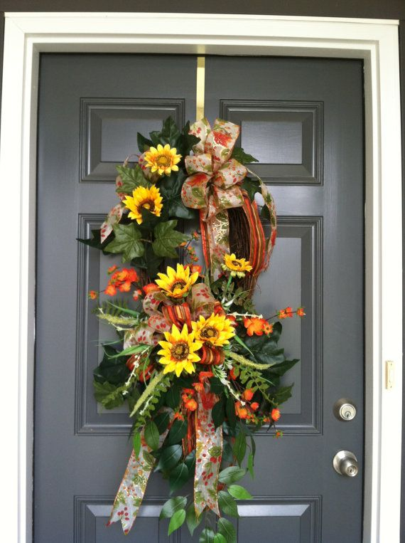 Perfect Fall Or Thanksgiving Wreath Front Door Wreath By CindysSilks, $67.00 Awesome Ideas