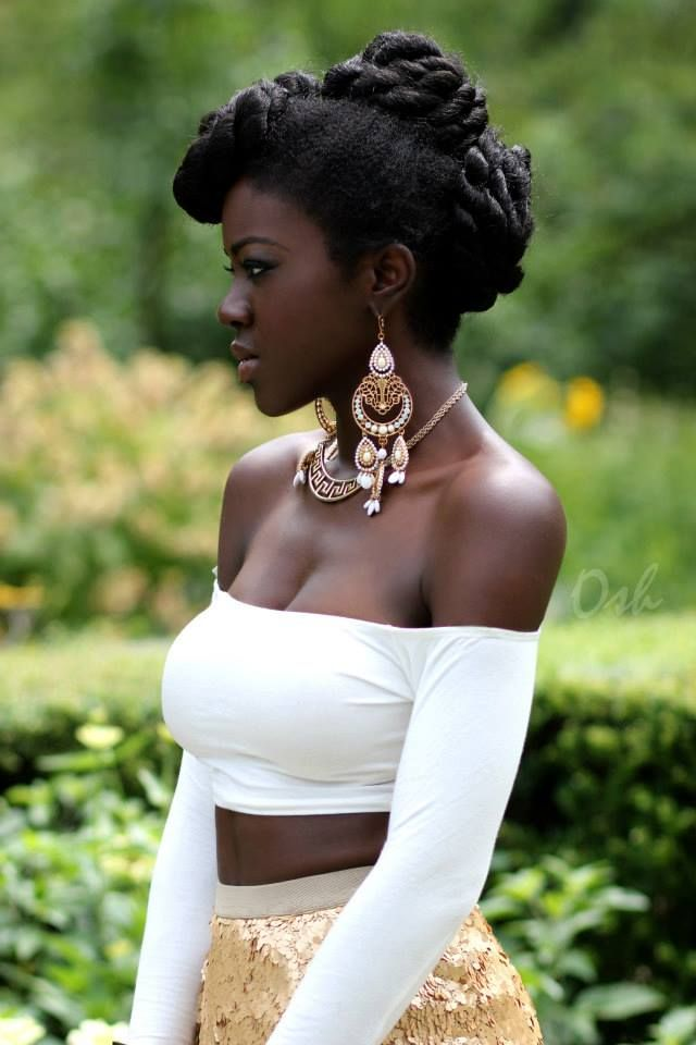 beautiful dark skin black women