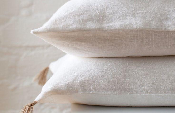 White linen pillow / White stonewashed linen pillow / decorative linen pillow / luxury linen pillow / decoration pillow /white linen cushion by LUMODECO on Etsy https://www.etsy.com/listing/504053851/white-linen-pillow-white-stonewashed