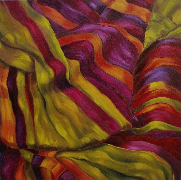 fabrics silk   venetian silk is a larger semi abstract painting of a striped silk ...