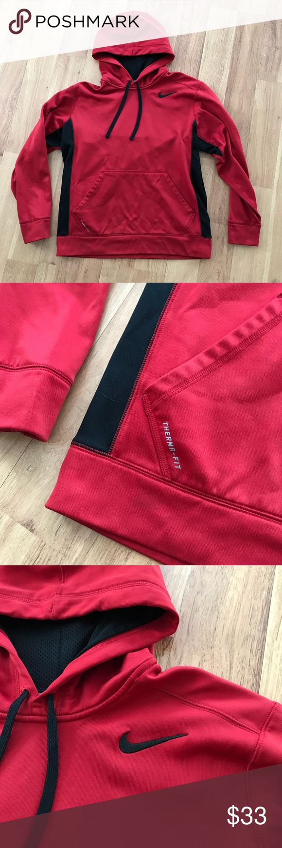Ships today! Nike Red and Black Men's Hoodie ⚜️I love receiving offers through the offer button!⚜️ Good condition, as seen in pictures! Fast same or next day shipping!📨 Open to offers but I don't negotiate in the comments so please use the offer button😊 Check out the rest of my closet for more Adidas, Lululemon, Tory Burch, Urban Outfitters, Free People, Anthropologie, Topshop, Asos, Revolve, Zara, and American Apparel! 1.4.55 Nike Red and Black Men's Hoodie Size Medium Nike Shirts…