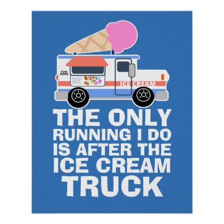 Ice Cream Truck Workout Poster - tap, personalize, buy right now!