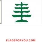 High Wind, US Made Pine Tree Flag 6x10