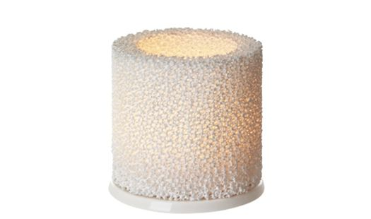 Fire votive holder by iittala, finland. A soft glow