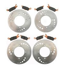Front Rear Brake Rotors and Pads - Yamaha YFM 700 Grizzly - 2007 2008 2009