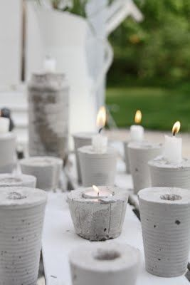 concrete candlesticks