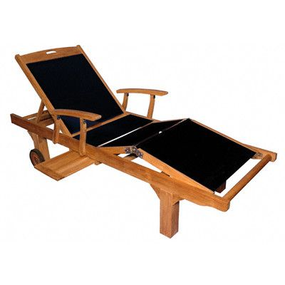 Buy Sling Arm Chaise Lounge Color: Black | Teak chaise ... on Living Accents Sling Folding Chaise id=40981