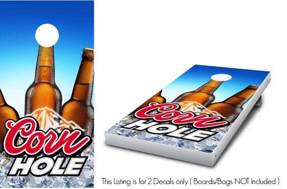 Corn Hole Beer Draft Cornhole Wrap set 2 by StickitGraphixllc
