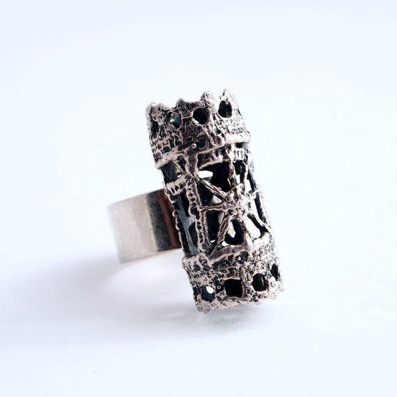 Silver Modernist Finland Vintage Pentti Sarpaneva Ring by Hopea20, $135.00