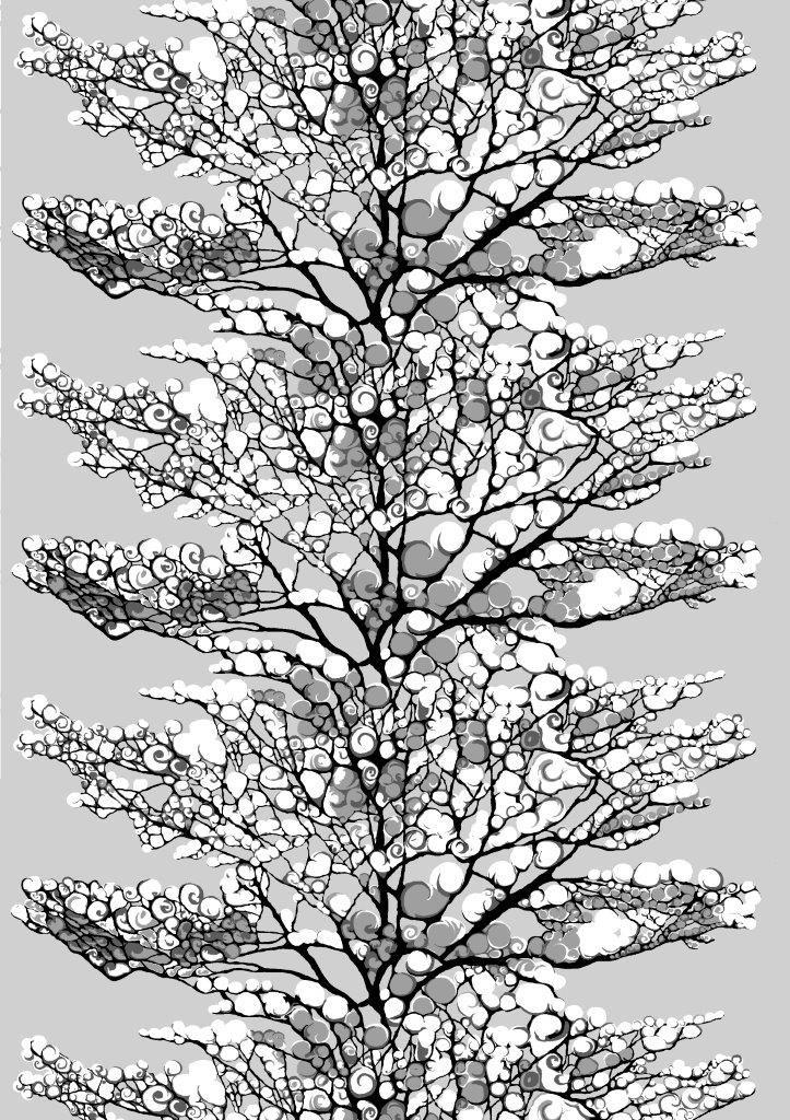 Vallila Interior AW14, Lumi grey by Riina Kuikka