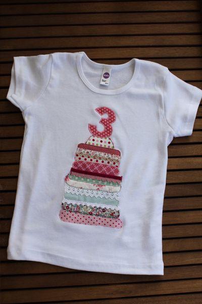 """T-Shirt """"kunterbunte Geburtstagstorte"""" von Milla Louise auf DaWanda.com"""