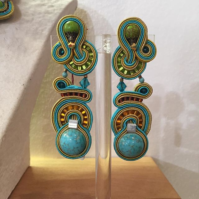 Visit our Tel Aviv store and meet your favorite wear–and-go turquoise earrings! #DoriCsengeri #turquoise #wearandgo #casual #earrings #resortwear #tlv #jewelrystore