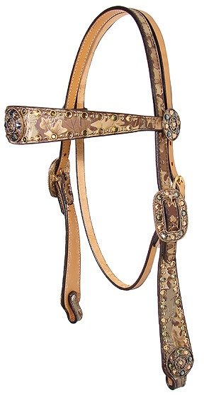 Headstall Double J Camo saddle
