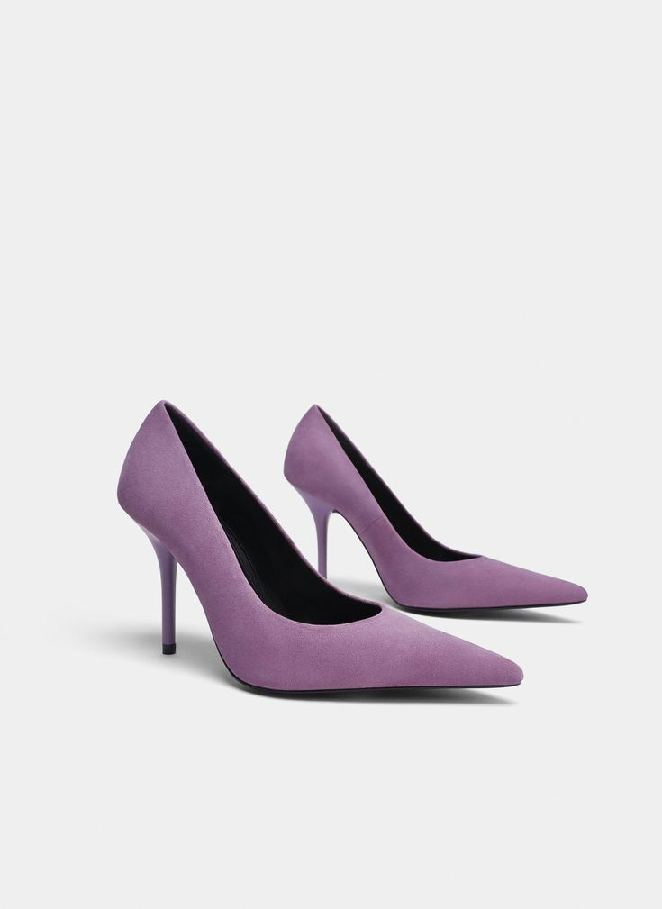 Uterqüe United Kingdom Product Page - New in - View all - Purple suede high heel court shoes - 99