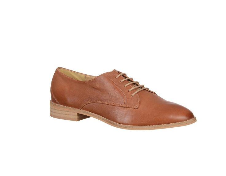 Pantofi fara toc din piele naturala, de dama - Pantofi Marca RAVALLE.