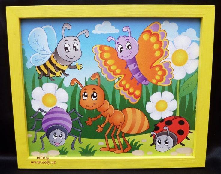 Obrazky pro deti malovane zviratka motyl mravenec beruska vcela. 249,-  Kč eshop www.soly.cz