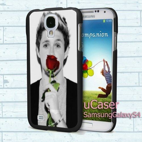 """Niall Horan With Rose for Samsung Galaxy S4 5.0"""" screen Black Case"""