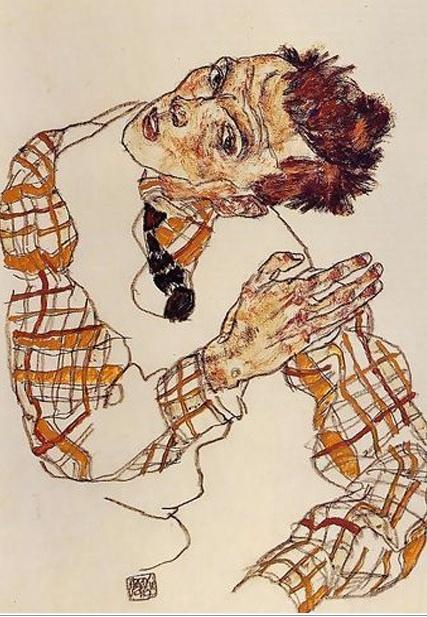 자화상 (1917) 에곤 실레의 자화상 / 오스트리아 표현주의 화가로 많은 자화상을 그려옴.