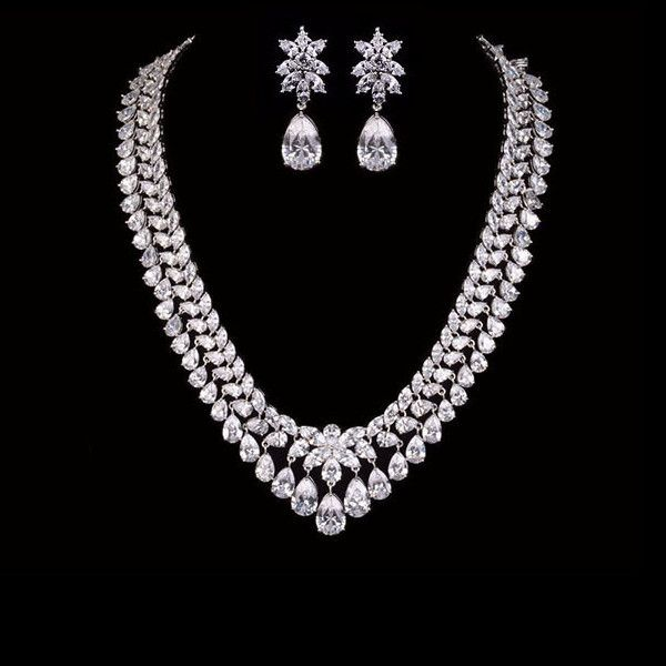 Grand wedding Diamond Imitation Necklace set