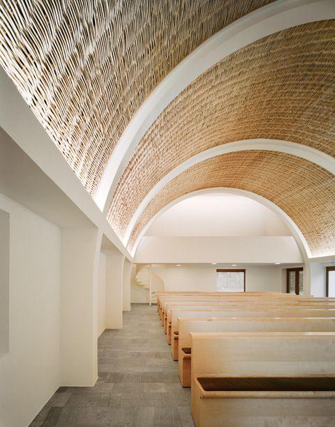 Funeral chapel by Kaestle Ocker Roeder Architekten for forest cemetery in Aalen.