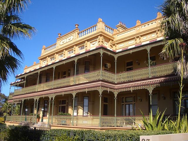 The Sir Joseph Banks Hotel is located in Anniversary Street,  in the eastern suburb of Botany, beside the Sir Joseph Banks Pleasure Grounds. The original two storey building, known as the Banks Inn, was begun in 1840 by Thomas Kellet and J Drew, in the Georgian architectural style. By the 1850s it had developed gardens, a private zoo and provision for outdoor sports. It became a popular weekend and holiday pleasure ground.