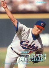 1997 Fleer Tiffany Chicago Cubs Baseball Card #272 Terry Adams