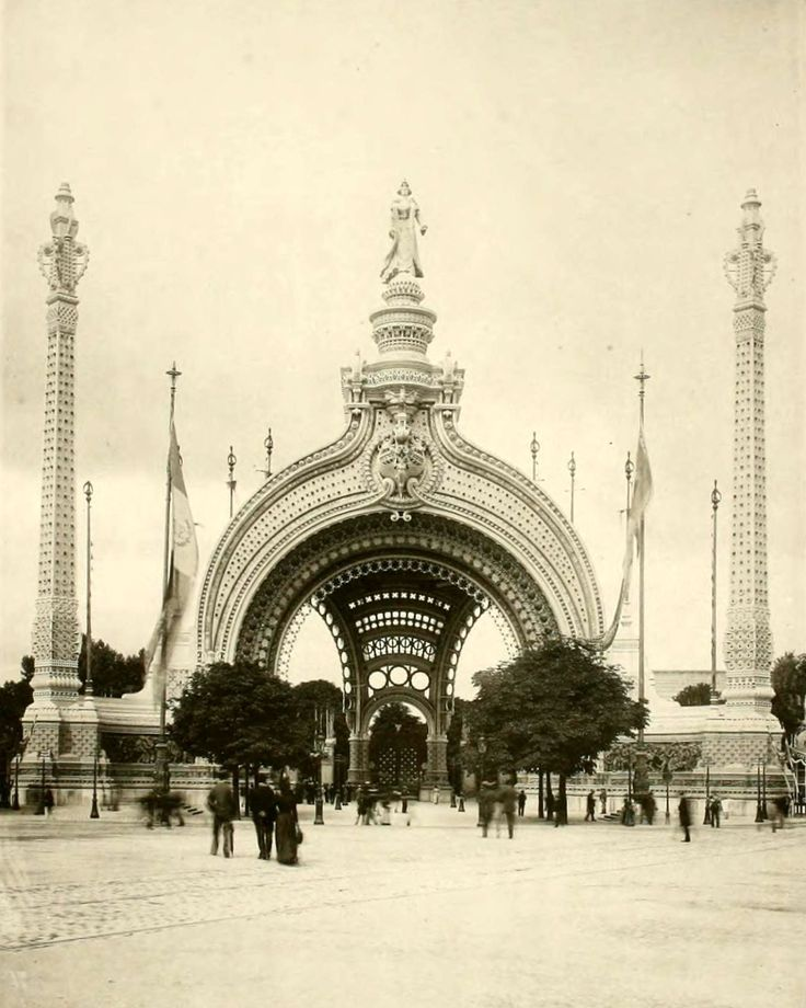 The Entrance Gate at the 1900 Exposition Universelle, Paris