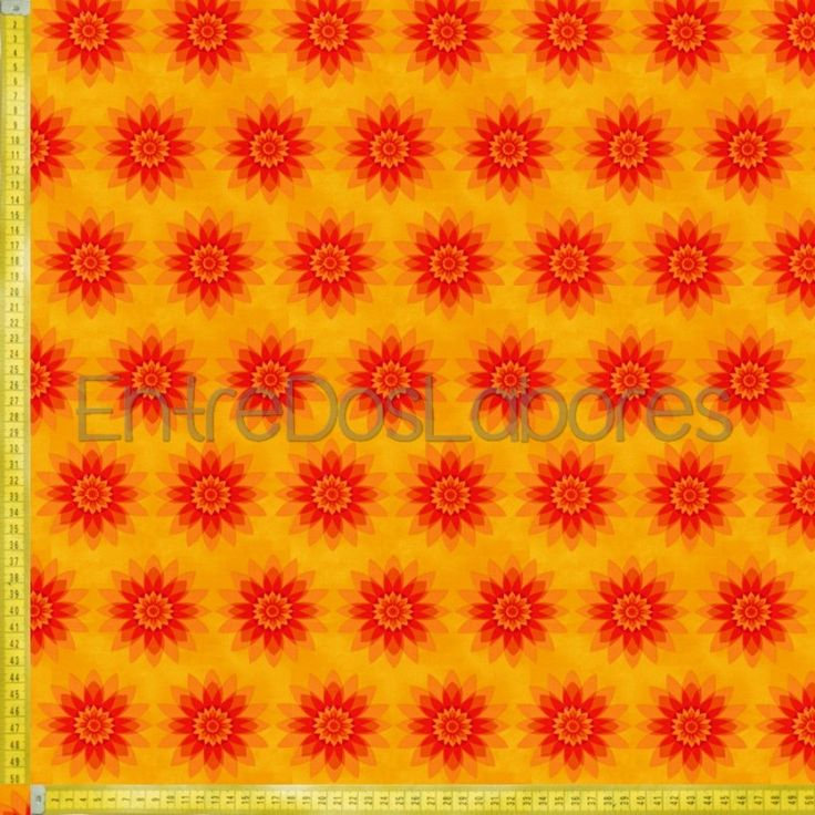 Tela de patchwork Fabry Quilt Mod. Calypso naranja.