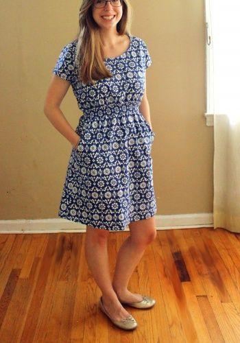 Staple Dress (pattern from www.april-rhodes.com/collections/patternshop ) lowered neckline