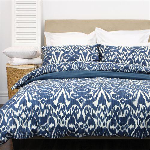 Blue Ikat Duvet Cover Duvet Cover Sets Bed Duvet Covers