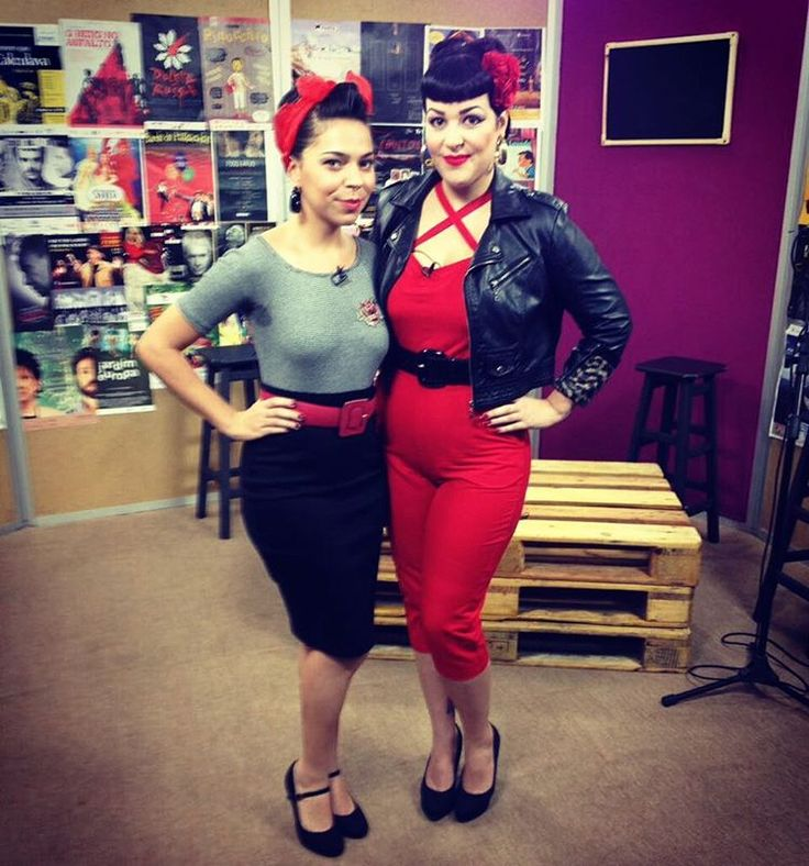 Miss Daisy e Miss De-Lovely com visual Pin-Up Moderna.