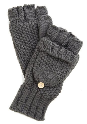Saturday at the Stables Fingerless Gloves in Grey, @ModCloth