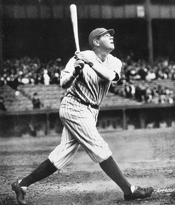 1922 Babe Ruth Hits Home Run at first game in Yankee Stadium