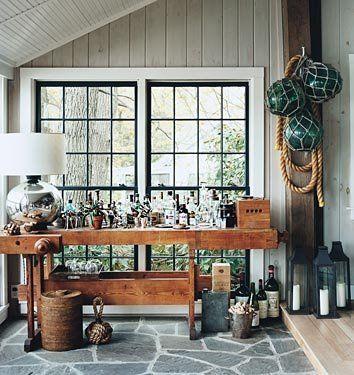 Bar in Thom Filicia's home: via A Steampunk Home via Apartment Therapy