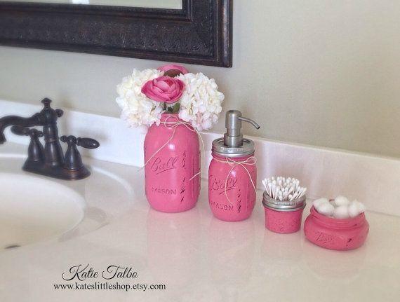 Mason Jar Bathroom Kit. Bathroom. Farmhouse by Kateslittleshop