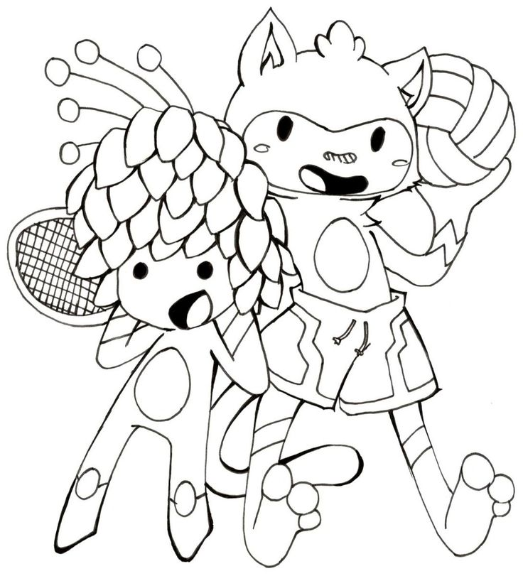 olympic mascots coloring pages - photo#19