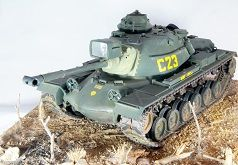 US Marine Corps, M-48 Patton Tank, Vietnam, 1/35 Scale