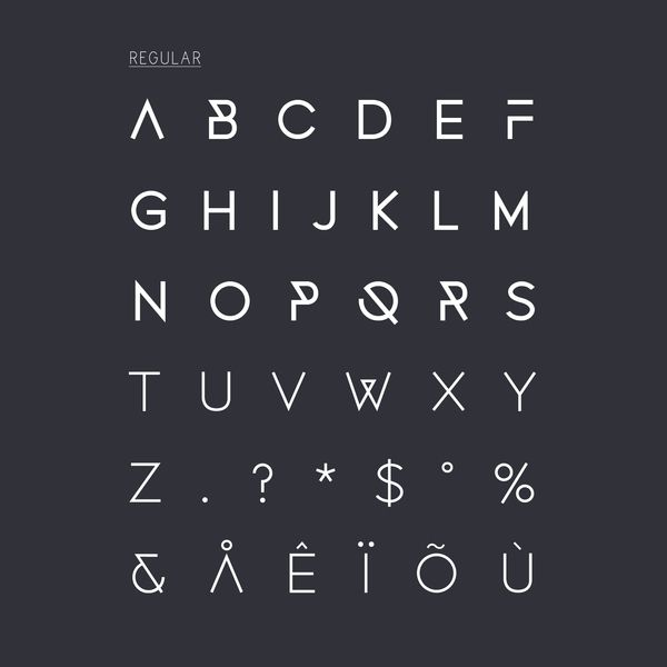 Fonecian Typeface by Rosalind Stoughton, via Behance