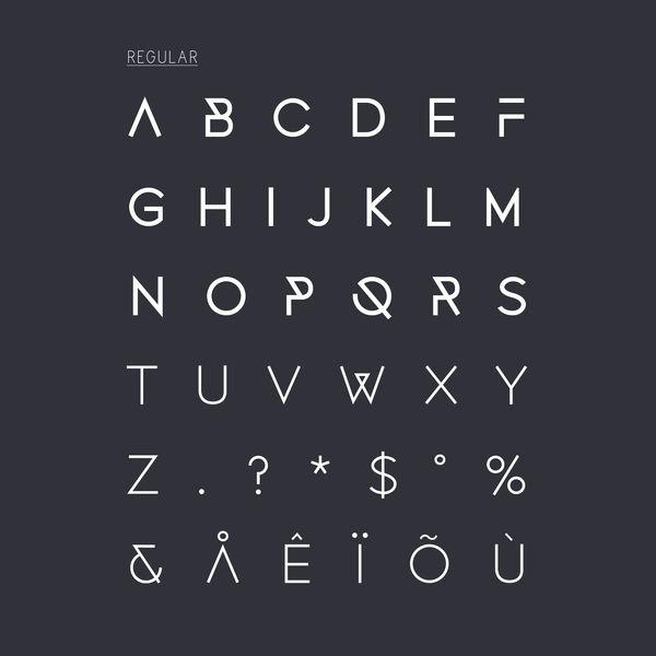 Fonecian Typeface by Rosalind Stoughton, via Behance