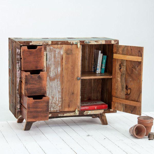 Marius Driftwood Reclaimed Wood Sideboard