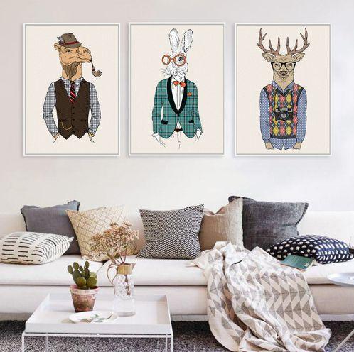 Modern Animal Wall Mural