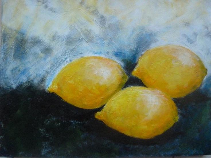 Title:- 'Anyone for lemons?' Medium: Acrylics Size:- 40cm x 30cm